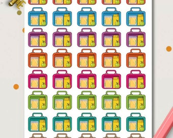 Pack Lunch Box Planner Stickers | Food Stickers | Pack Lunch