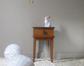 wooden bedside design year 50's handful of furniture DOE Fawn