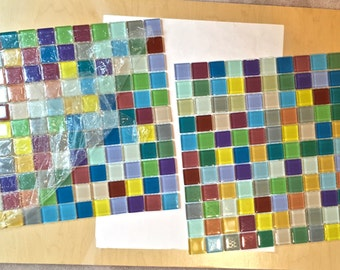 Bright Colored Tiles Etsy