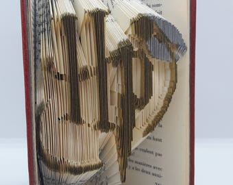 Harry Potter - colorized folded book - Version Doree/argentee