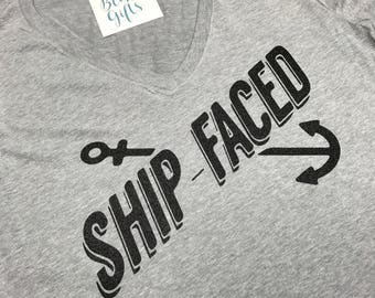 Ship Faced, Funny Cruise Shirts, Vacation T-shirt, Family Vacation Shirts, Cruise T-shirts, Cruise Shirts, Vacation Shirt, Anchor Shirt