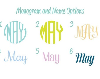 Monogram or Name on the Front of Shirt Upgrade