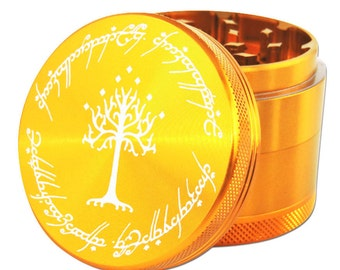 """Ring scripture herb grinder- 2.2""""- free carrying pouch"""