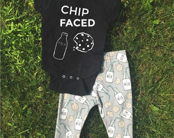 Chip Faced Cookies Bodysuit and TShirt