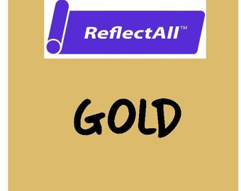 ReflectAll Siser Heat Transfer Vinyl - Reflective HTV - Gold