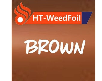 HT WeedFoil Heat Transfer Vinyl - Iron On - HTV - Brown Foil