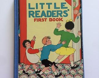 "1929 John Martin's ""Little Reader's First Book"" Antique Hardback Children's Book"