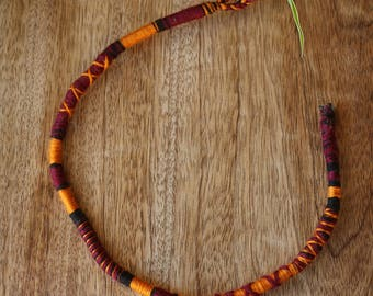 Atébas removable (made to order) orange and Burgundy