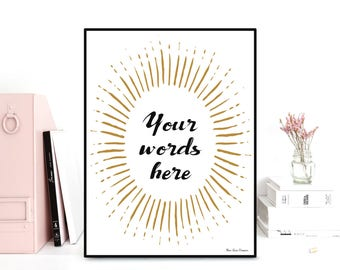 Custom poster, Custom quote print, Favorite quote, Personalized poster, Poster quote, Gift idea, Typography quote, Custom wall art decor