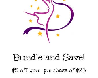 Bundle - 5 Dollars Off When You Spend 25