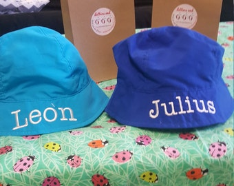 Personalized Infant sun hat , monogram included, personalized with name, protect from sun UPF 50!  3-12 months age. sizes.