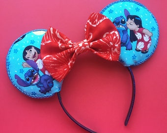 Lilo and Stitch Mouse Ears, Stitch Inspired Ears, Lilo Mouse Ears