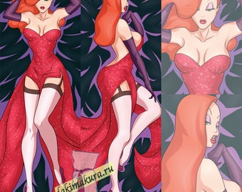 Who Framed Roger Rabbit: Jessica Rabbit Dakimakura 50x150cm, 19.6x59 inch, Hugging Body Pillow Case  N1-474