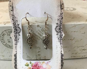 Simply silver earrings