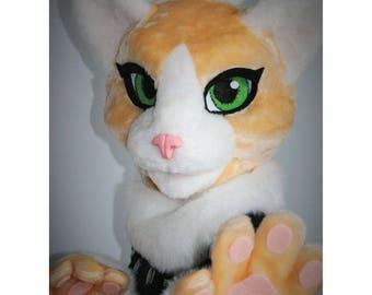 Persian cat fursuit partial, feline fursuit head, fursuit for a girl, premade fursuit