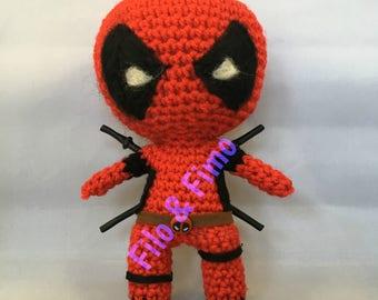 Deadpool -  Chibi Doll Amigurumi