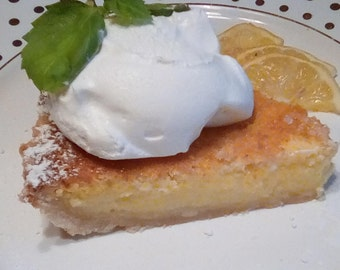 Love Lemon Chess Pie downloadable PDF or JPEG Eating Cleaner recipe file