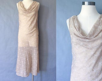 Vintage 100% silk sheer maxi dress from Calvin Klein minimalist women's size S/M