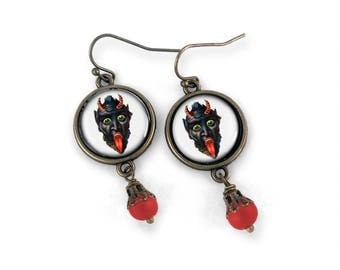 Krampus Earrings