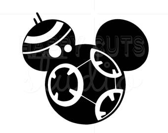 Personalized BB9e Star Wars Mickey Minnie Mouse Matching Family Disney World Father Son Vacation Disney Iron On Decal Vinyl for Shirt 042