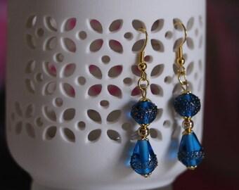 Ultramarine blue earrings