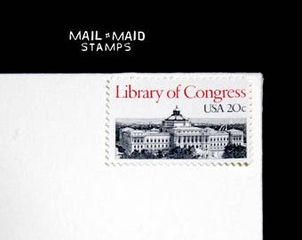 Library of Congress    Set of 10 unused vintage postage stamps
