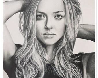"Pencil portrait ""Amanda Seyfried"" graphite"