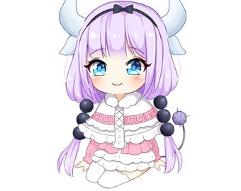 Kanna Kamui Miss Kobayashi's Dragon Maid Anime STICKER Kawaii