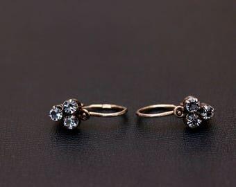 Sterling silver small waving hook dangle earrings. Made in USSR