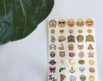 Single Sheet EMOJI Temporary Tattoos