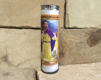 "Big Lebowski ""The Jesus"" Celebrity Prayer Candle - Movie Decor - Humor - Parody Art - 7 Day Candle"