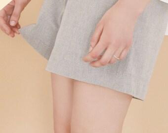 SALE, Organic cotton shorts, Grey shorts, summer shorts, sustainable clothing, organic cotton clothing, Spring clothing, Womens clothing,