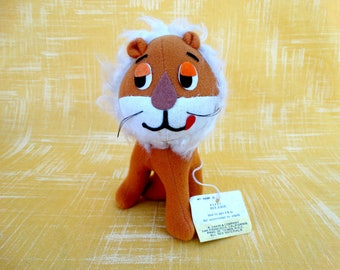 Vintage Dream Pets Rex Lion Stuffed Toy by Dakin #3037 with Original Tag