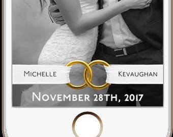 Wedding rings snapchat filter, gold rings snap filter, wedding snap chat filter, wedding snap geofilter, wedding rings snapchat filter