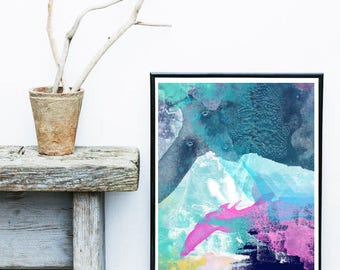 Abstract Art Print - Canvas, Giclee, Contemporary Art, Digital Art Print,