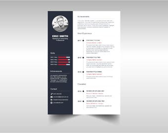 Simple Timeline Resume Template