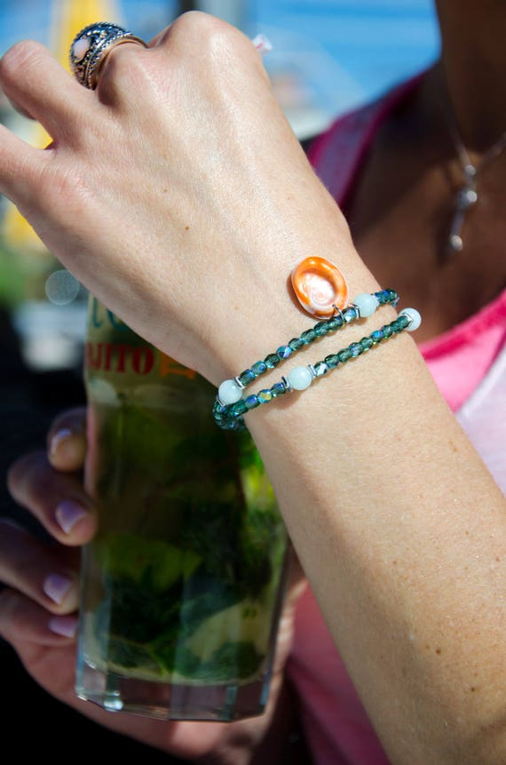 Bracelet MAGDA Vert erinite
