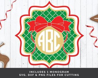 Christmas Monogram svg - Holiday Monogram svg - Ornament svg - Monogram Frame svg - Christmas Frame svg - Christmas Ball svg