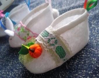 Newborn Baby Shoes Fall Autumn Halloween Thanksgiving