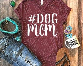 Dog Mom Statement UNISEX Tee - Custom Pet Tee Shirt - Dog Quote Tee- Pet Lover Tee (VT-1007)
