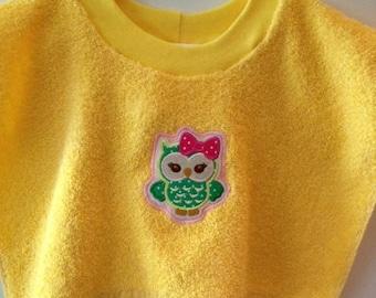 Baby Bib Owl Baby Owl Bib Infant Bib Shower Gift Baby Gift Baby Shower Gift Baby Animals Pullover Bib Art Smock Munch'n Mop Bibs
