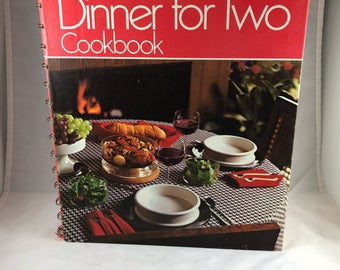 Vintage Betty Crocker Cookbook - New Dinner for Two - 1970s Cookbook - Vintage Kitchen - Recipe Collection - Gifts for Brides