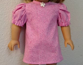 Pink Nightie, Sleep Mask and Slippers for American Girl and 18 Inch Dolls