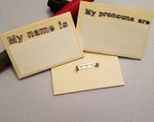 PREORDER: Dry Erase Name or Pronoun Pin for Genderqueer, Nonbinary, Systems, Cosplayers, and Everyone Else