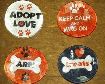 Dog Magnets - Rescue Dog Magnets - Dog Lover Magnets