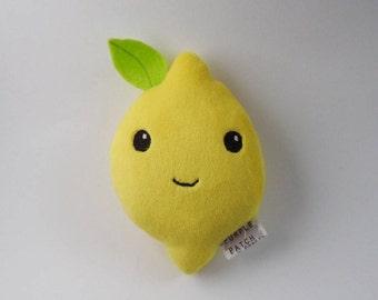 Lemon Plushie - Fruit Plush, Cute Food Toy