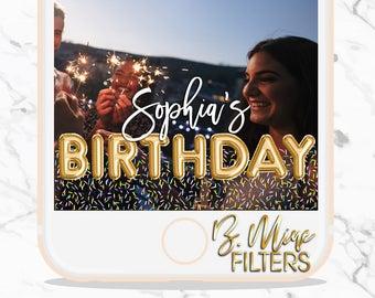 SNAPCHAT GEOFILTER BIRTHDAY, Birthday Snapchat Geofilter, Sprinkles, Sprinkles Birthday, Balloon Letters, Balloon Letters Snapchat Geofilter