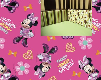 Disney Minnie Mouse Crib Bumper Pads Disney Minnie Nursery Girl Crib Bedding Bumper
