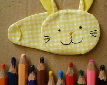 """Yellow Rabbit Eye Patch for Glasses (amblyopia eye, """"lazy eye"""")"""