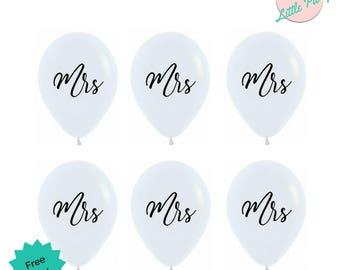 Mrs White & Black Balloons Bachelorette Pride Party Decorations